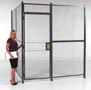 Wire-Partition-with-RapidWire-and-Hinged-Door