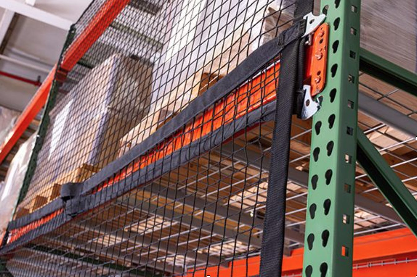 Pallet Rack Safety Netting Install.